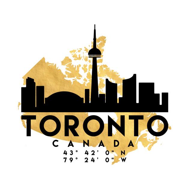 Toronto Canada Skyline Map Art Toronto TShirt TeePublic