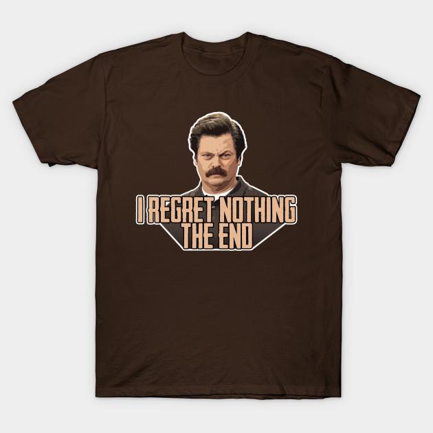 Ron Swanson Funny Shirt Parks and Rec Fan Shirt Leslie Knope Shirt Swanson 2020 Shirt I regret nothing Shirt Parks and Recreation Shirt