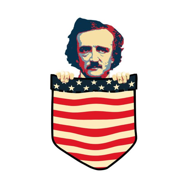 Edgar Allan Poe Chest Pocket