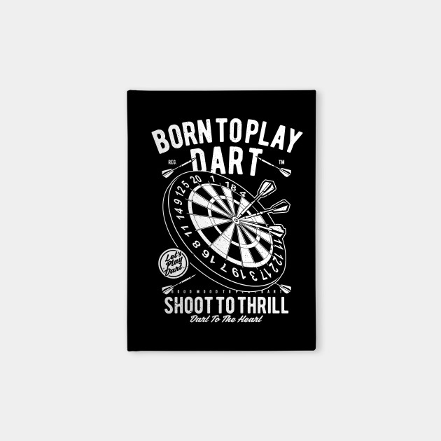 Vintage Born To Play Dart Shirt Darts Dad Gift