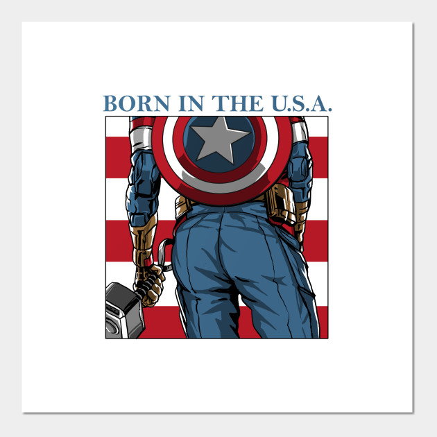 America's Ass - Captain America - Posters and Art Prints