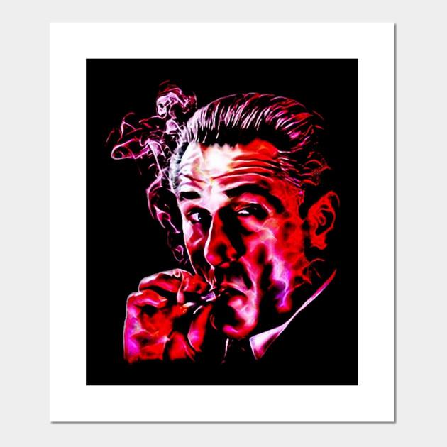 Robert De Niro smoking mafia gangster movie Goodfellas painting ...