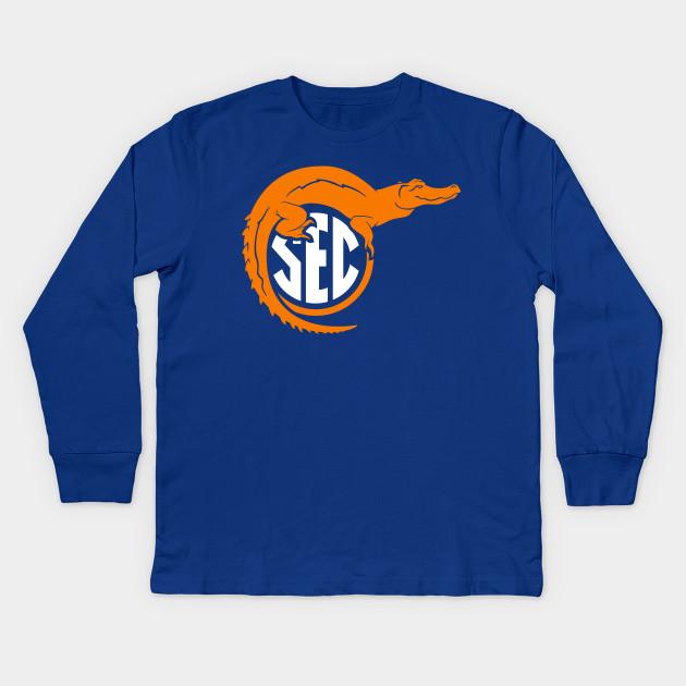 8cd9b6c7a8c Florida Top of SEC - On Blue - Florida Gators - Kids Long Sleeve T ...