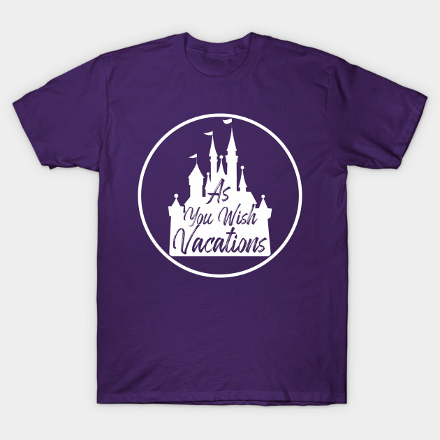 As You Wish Vacations Castle White Logo T-Shirt