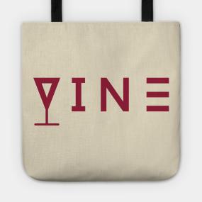 edc3c3f52d Vine text typography Tote Bag