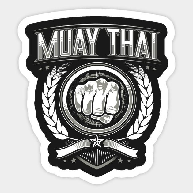 Muay Thai Mma Punching Design Muay Thai Sticker Teepublic