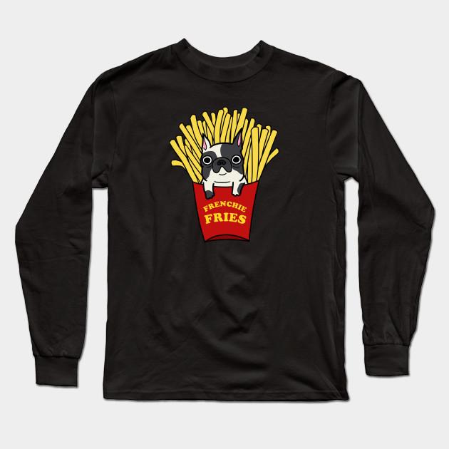 ef455709 Frenchie Fries - French Bulldog - Long Sleeve T-Shirt | TeePublic