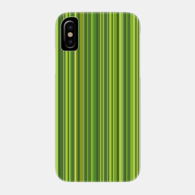 Many multi colored stripes in the green