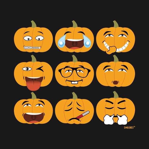 All Halloween Emojis - All Hallows Day - T-Shirt | TeePublic