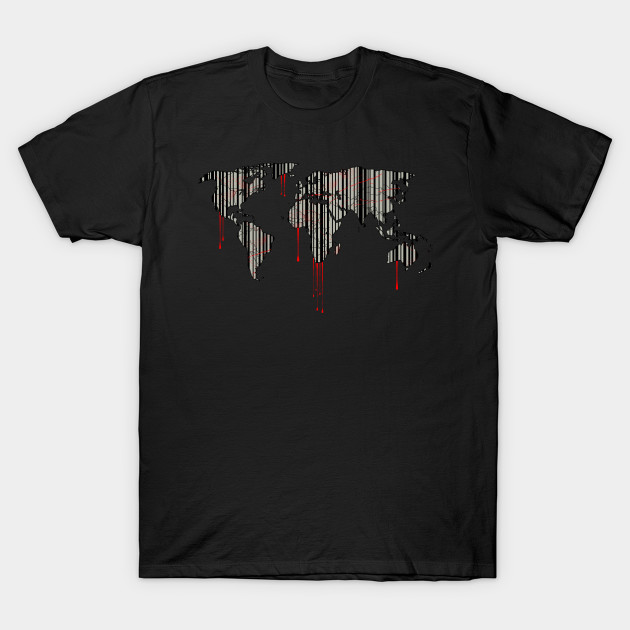 World map barcode blood dripping world map barcode blood 1011766 1 gumiabroncs Image collections