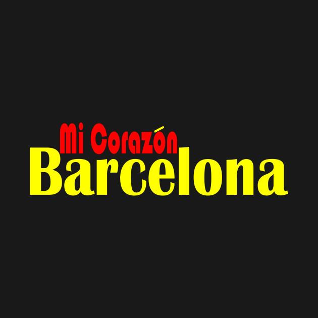 Barcelona Mi Corazon Barcelona Kids T Shirt Teepublic