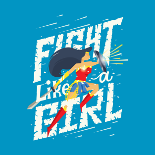 Fight like a girl t-shirts