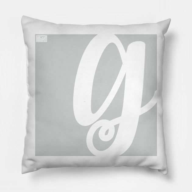 Letter G Elegant Cursive Calligraphy Initial Monogram Cursive