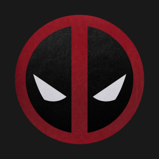 Deadpool Logo Leather t-shirts