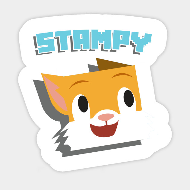 minecraft youtuber stampy cat t-shirt with stampylongnose - stampy