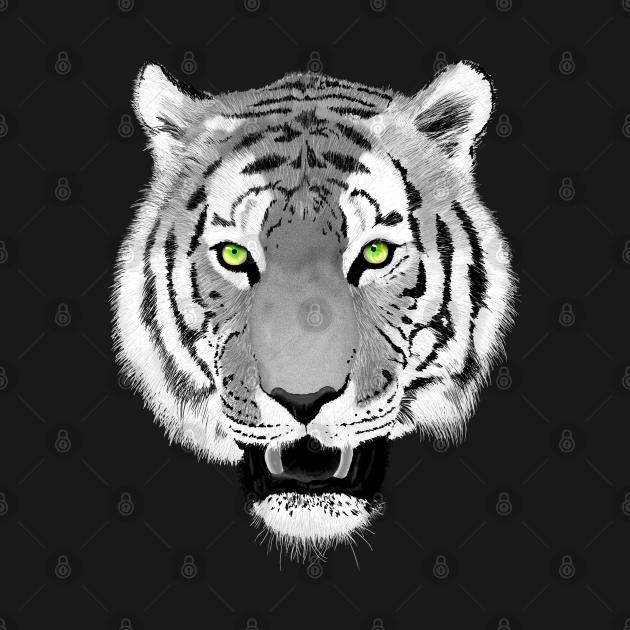 Tiger Face Wildlife Art