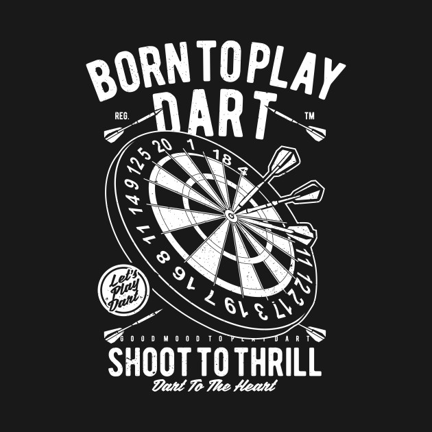 Vintage Born To Play Dart Shirt Darts Dad Gift