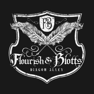 Flourish and Blotts t-shirts