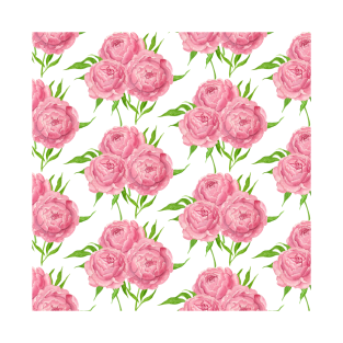 b607c71e6 Peony bouquet watercolor pattern T-Shirt
