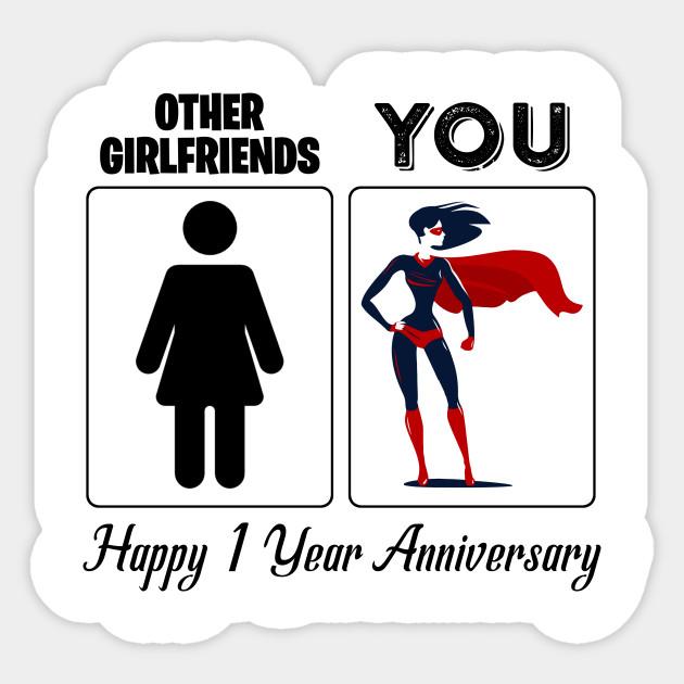 1 Year Anniversary Gift For Girlfriend 1st Anniversary Gift For