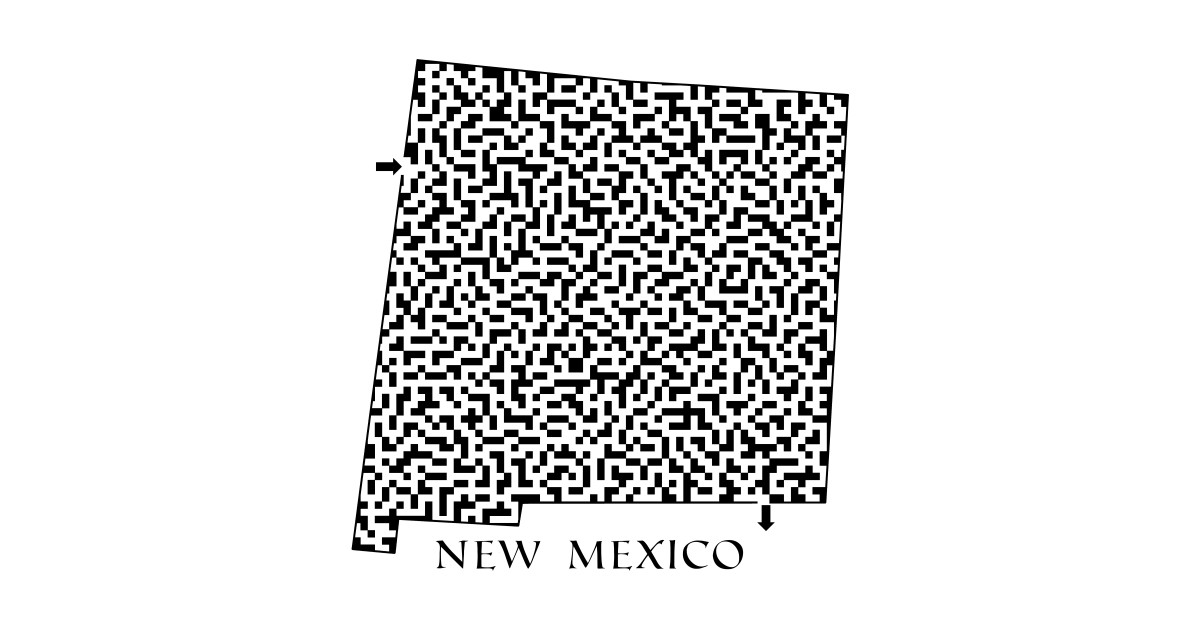 cac1db28b45 State of New Mexico Maze - New Mexico - T-Shirt
