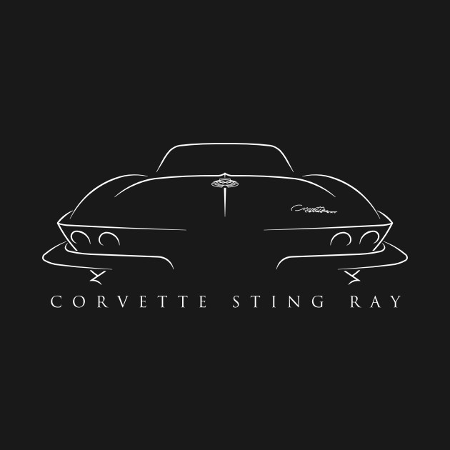 C2 Chevy Corvette Sting Ray - Stencil