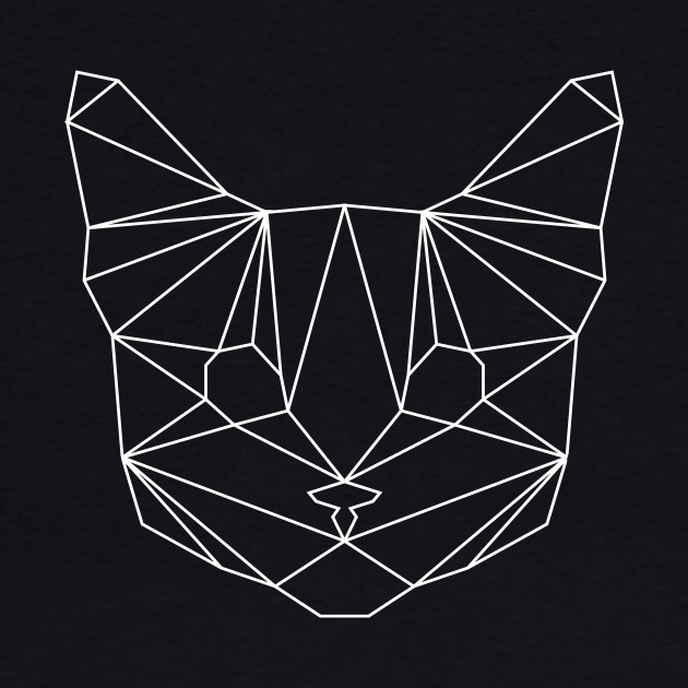 Geometric White Cat