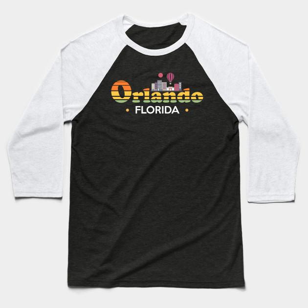 517e1cf8a0d Orlando Florida Skyline Design - Orlando - Baseball T-Shirt
