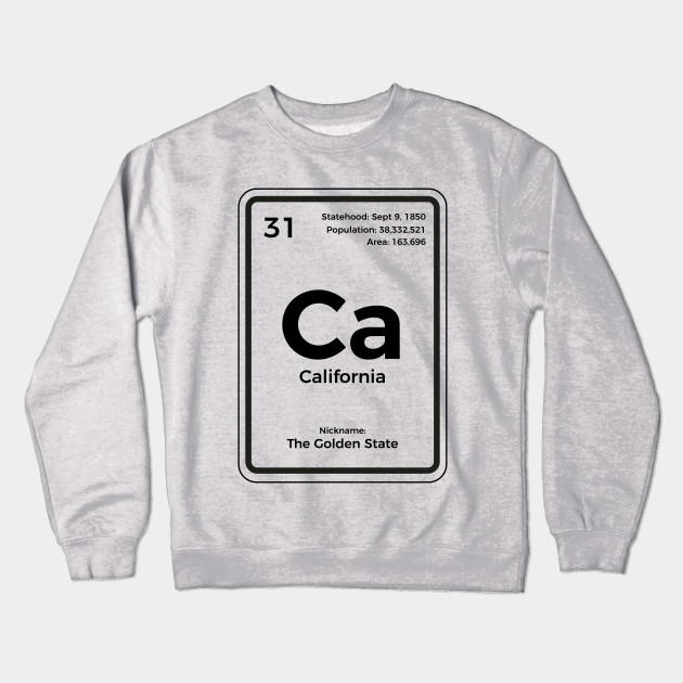 California Periodic Table T Shirt Golden State Gifts T Shirt