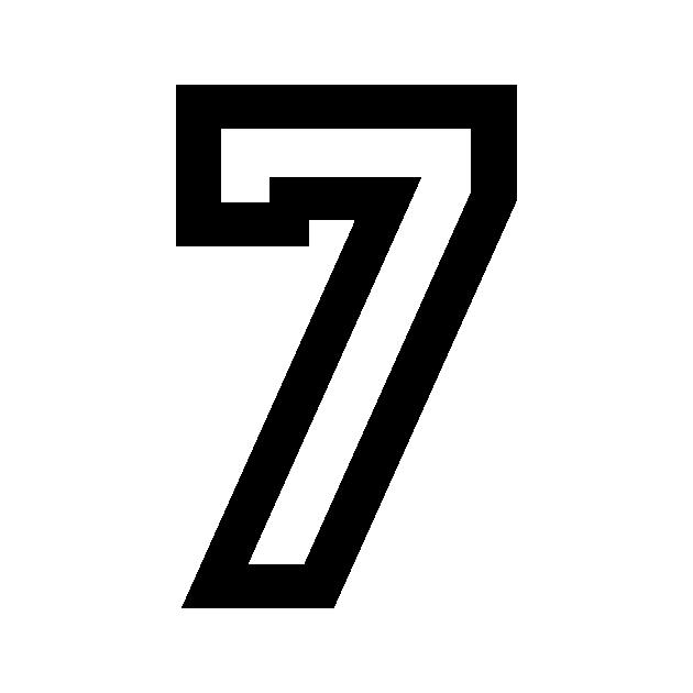 Sticker Vinyl Number Seven 7 Details about  /Number Seven 7 Sticker Vinyl Cut Outdoor-Indoor