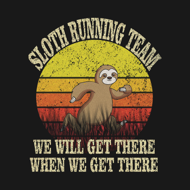 Sloth Running Team Funny Vintage Shirt For Men women