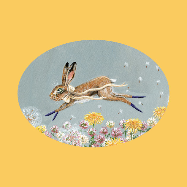Clover the leaping hare