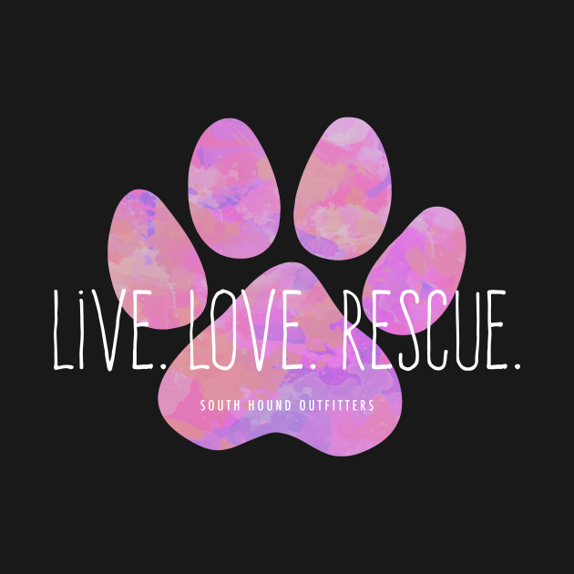 Live Love Rescue Pink Paw Print