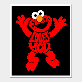 Elmo Wall Art | TeePublic