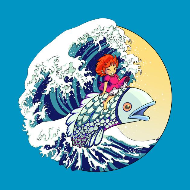 Ponyo Hokusai