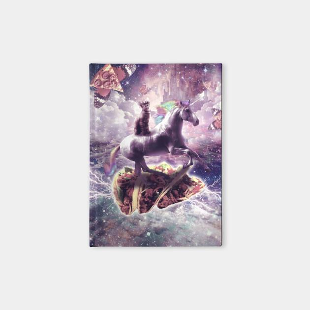 Space Cat Riding Unicorn Pizza Taco Cat Riding Unicorn