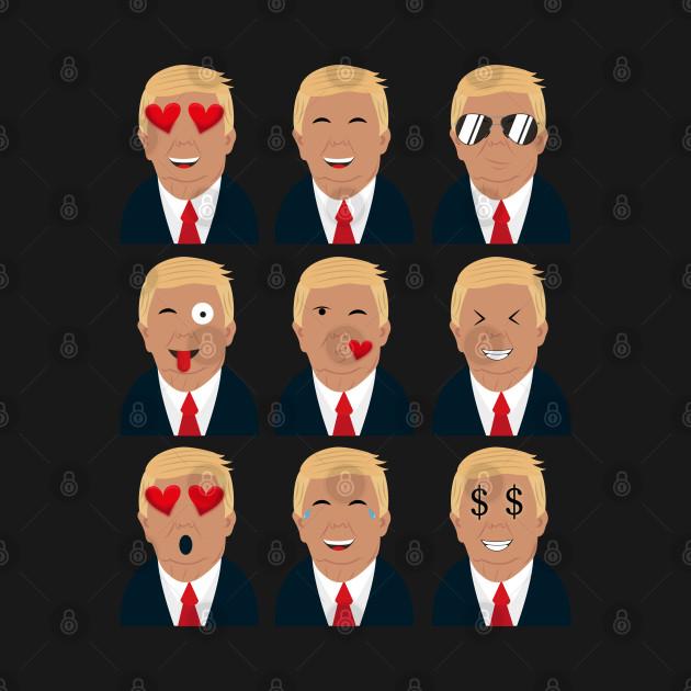 Trumoji T Shirt | Trump emoji Tee
