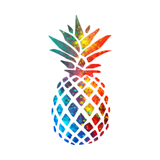 colorful watercolor pineapple pineapple t shirt teepublic. Black Bedroom Furniture Sets. Home Design Ideas