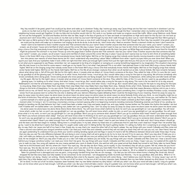 Twenty One Pilots all regional at best lyrics