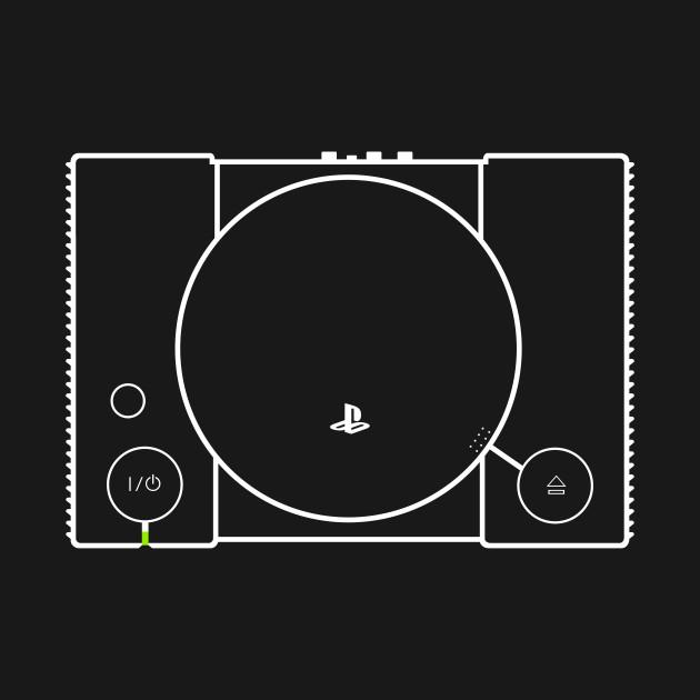 1c9955a4f Playstation 1 minimalist - Playstation - T-Shirt   TeePublic