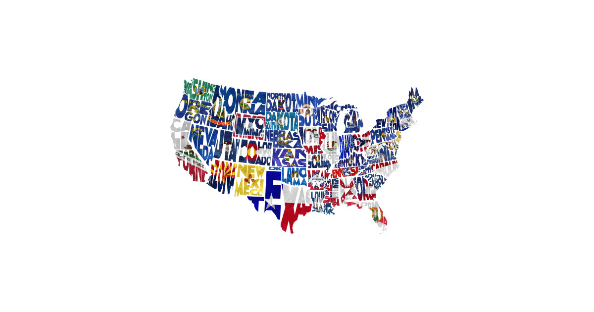 Flag Map of States by inspirowl