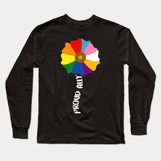 Ally Pride Black Adult T-Shirt LGBT