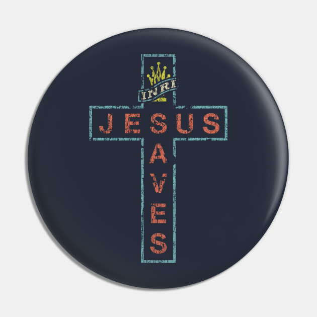 Jesus Saves Cross Sign