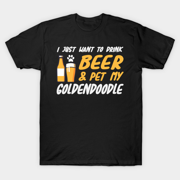 00082e3d4 Beer and Goldendoodle Shirt Funny Dog Mom or Dog Dad Gift T-Shirt