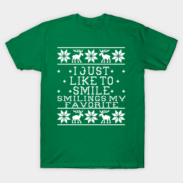 I Just Like To Smile Elf Movie Quote Ugly Christmas Sweater