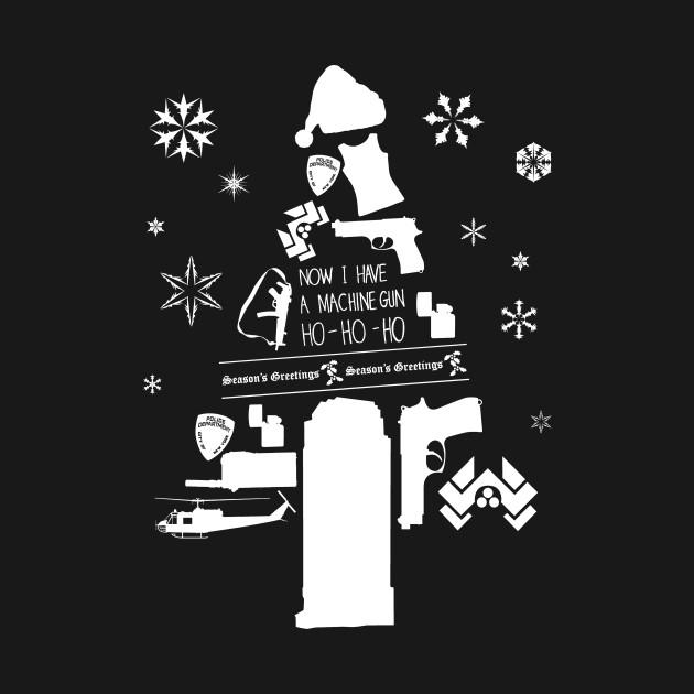 Die Hard Christmas Tree Silhouette - Die Hard - T-Shirt ...
