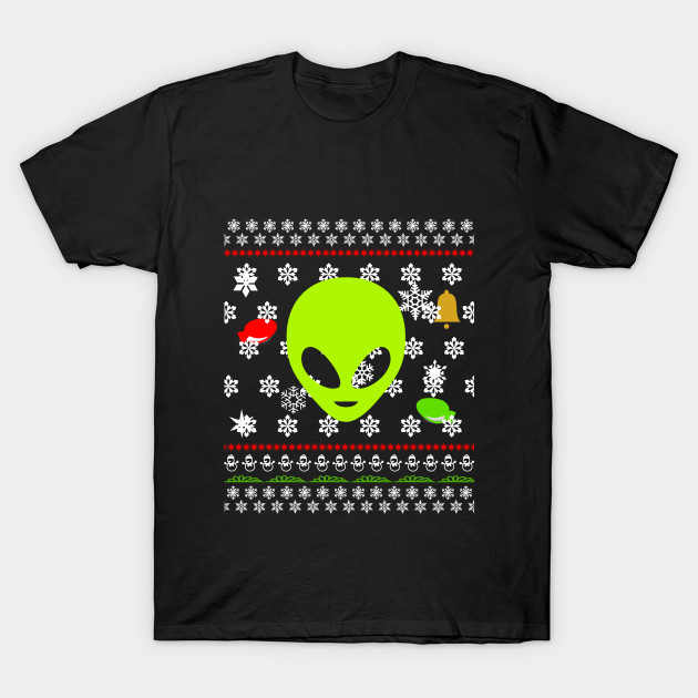 Ugly Christmas Sweater Alien T-Shirt