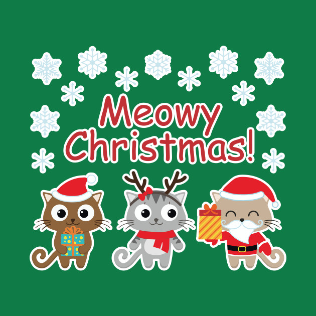 Meowy Christmas.Meowy Christmas Shirt Christmas Xmas Holiday Party Cat Lover Tshirt Gift Tee By Dezziart