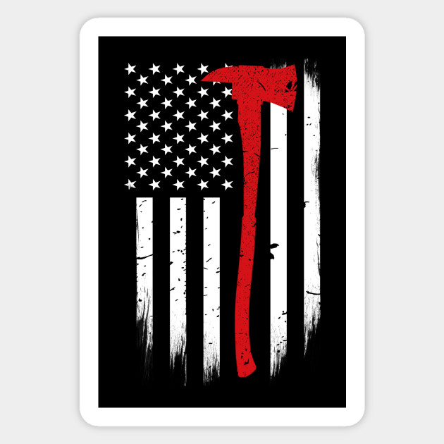 Red Line American Flag >> Firefighter Axe Thin Red Line American Flag