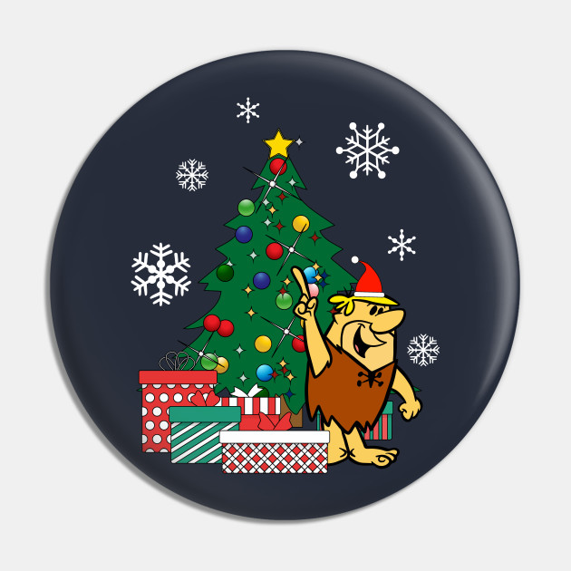 Barney Rubble Around The Christmas Tree
